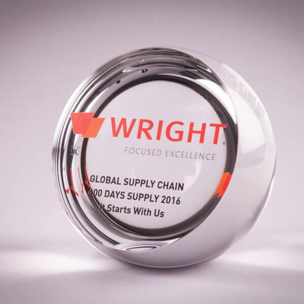 10SFBKWIN Cut Face Crystal Sphere