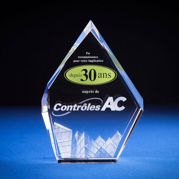 14FLB0W Crystal 3D Flame Award