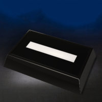 Rectangular Dark Rosewood LED Base