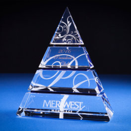 Stacked Pyramid Trophy