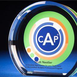 Circle & Arc CAP Crystal Color Filled